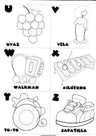 Letras U V W X Y Z Para Colorear Comunicación Vocabulary