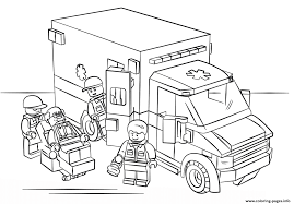 Lego City Coloring Pages Free Download Printable To