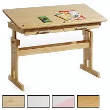bureau enfant pin bureau enfant en pin massif réglable en hauteur et plateau