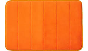 Memory Foam Bath Mat Orange Home & Garden