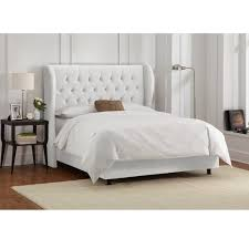 Skyline Tufted Wingback Headboard King by Skyline Furniture Tufted Wingback Bed In Velvet White Free