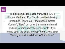How Do I Block An Email Address My Iphone