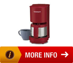 Cuisinart DCC450R 4Cup Coffeemaker With Stainless Steel Carafe Red