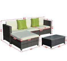 Ebay Patio Furniture Sectional by Amazon Com Giantex 5pc Patio Rattan Wicker Sofa Set Cushioned