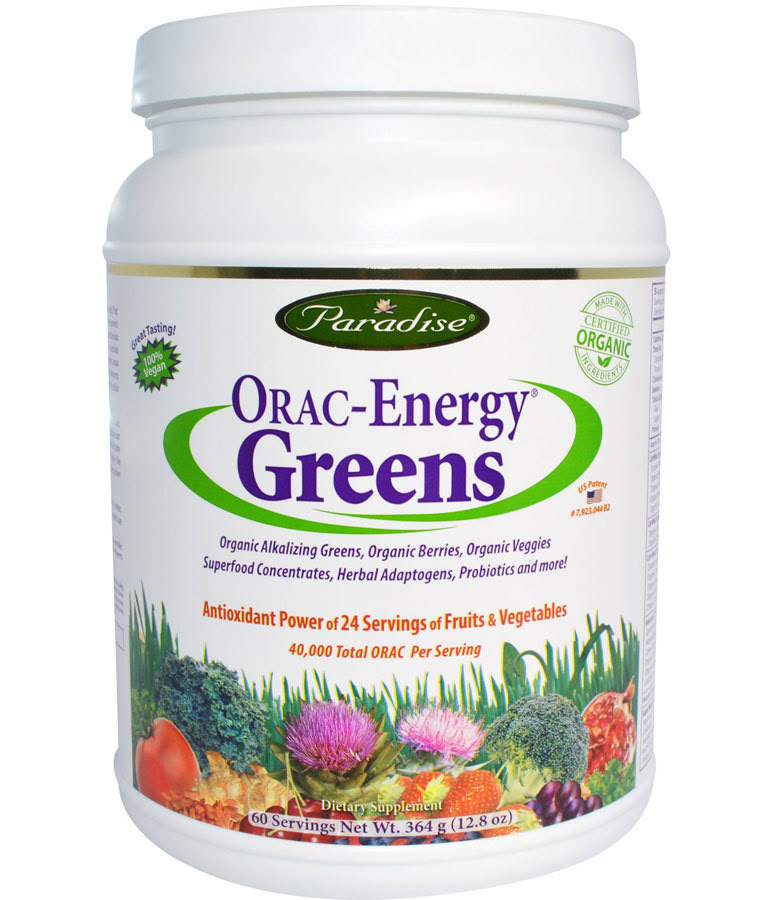 Paradise Herbs ORAC-Energy Greens Powder - 12.8 oz jar