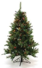 Special Happy Corp LTD Nordmann Fir Artificial Prelit Christmas Tree 4 1 2 Feet