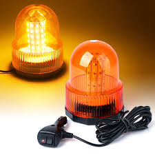 60 LED EMERGENCY Truck Magnetic Mount Rooftop Rotating Beacon Strobe ...