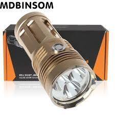 powerful led flashlight xm l t6 3000 lumens portable light l 3