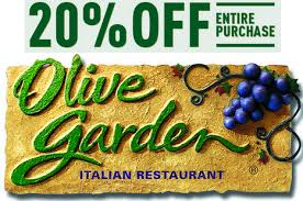 Olive Garden Save  off your purchase