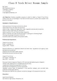 Sample Of A Professional Cover Letter Driver Resume Doc Truck Template Job And