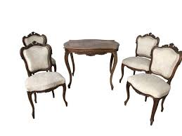 Antique French Chairs|Antique Arm Chairs|Occasional Chairs 1940s Chinoiserie Mahjong Card Table Set 5 Pieces At 1stdibs Kitchen Design Lovetoknow Wooden Poker Chairs Antique Rare Vintage Set Of 4 Stakmore Folding Chairscarved Whiskey Barrel Back Swivel Base Exceptional Brassinlaid Or Gaming In The Neoclassic Manner Vintage 1940s Club Chair Expanding Tables Grow To Suit Needs Trader Why Phillipe Starcks Ghost Chair Is Here For Eternity Pair Armchairs Easy Attributed Jean Royere