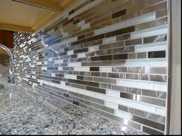white glass mosaic tile backsplash tagged with metal and lowes
