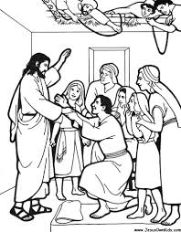 Coloring Download Jesus Heals Paralyzed Man Page And