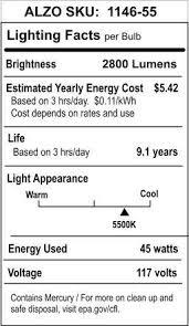 alzo 45w joyous light spectrum cfl light bulb 5500k 2800