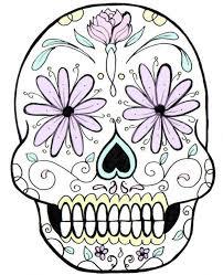 Sugar Skull Pumpkin Carving Patterns by Mays Ali Sugar Skull Pattern Clip Art Library