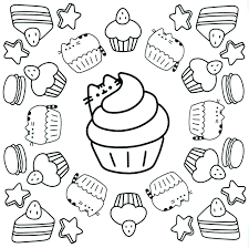 Pusheen Coloring Pages Beautiful Charming Design Eson Me Of At