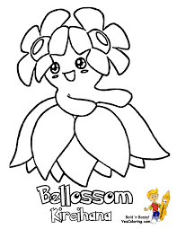 Enter Coloring Pages To Print Pokemon Bellossom Slowking At YesColoring