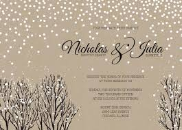 Rustic Winter Snow Wedding Invitation By WeddingPaperie