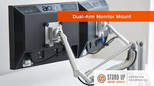 Dual Monitor Standing Desk Attachment by Dual Arm Monitor Mount Stand Up Desk Store Youtube