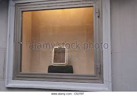 Display Of Nothing In Fancy But Empty Frame Store Window Florence Italy