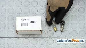 dryer light bulb part we05x20431 how to replace