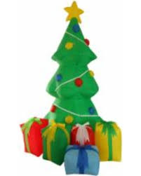Fun Holiday Inflatables 5 Foot Tall Christmas Tree With Gift Boxes