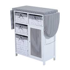 Ironing Board Cabinet With Storage homcom foldable ironing board shelving unit functional closet