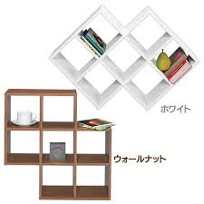 Multi Rack MU 039 Walnut White Wood Display Bookshelf This Storage Consolidation Shelf Decoration Fashion Gap Clearance Department Of Space Open