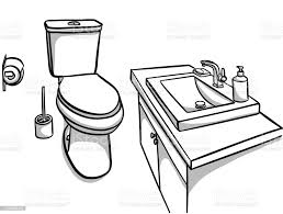 toilet and bathroom sink stock illustration image now