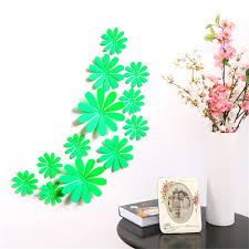 12Pcs 3D Daisy Home Bedroom Decor Wall Stickers For Kids Room Christmas Party Kitchen Refrigerator