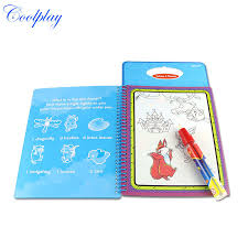 5Pcs Lots CP1392 New Arrives Magic Kids Water Drawing Book With 1 Pen Intimate Coloring Painting Board