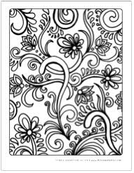 Free Download Zen Flowers Coloring Pages For All Ages