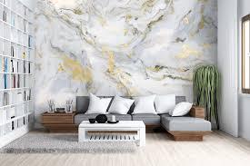 tapete marmor gold grau unik nordic