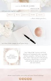 100 Modern Design Blog Website Branding Kit Floral Pink Peach Rose Gold Theme Ger Wordpress Header Social Media Icons Buttons Labels Borders