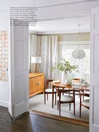 Mid Century Modern Dining Room W French Door Will Be More Open Than This Simpler Light Fixture