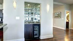 Built In Wet Bar Modern Dining Room Contemporary