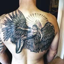 Angel Back Tattoos For Guys Of Fresh Full Wing Men