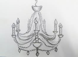 Simple Chandelier Drawing Uncategorized Don Know Art But
