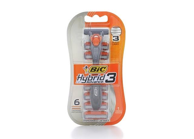 BIC 7-Piece Hybrid 3 Comfort Disposable Men's Razor