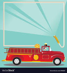 Firetruck Birthday Party Royalty Free Vector Image