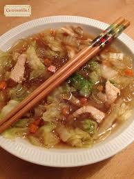 cuisiner le chou chinois cuit ça croustille soupe croquante au chou chinois et vermicelles