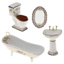 1 spüle spiegel badezimmer möbel set für 1 12 puppenhaus bad