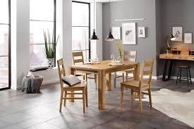 home affaire essgruppe nils 6 set 5 tlg tisch 140 90 cm 4 stühle holzsitz aus massivholz kaufen otto