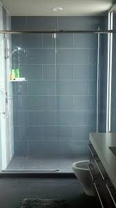 glass 4 x 12 subway tile large format steamers and showers