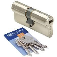 barillet securite porte entree cylindre de porte 30 x 30 mm bricard astral 4 clés et carte
