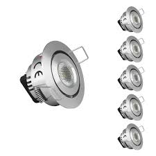 le pack of 5 units 1 5 inch led cabinet lighting 10w