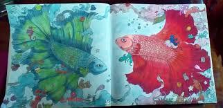 Kerby Rosanes Animorphia Fighting Fish Coloured By Joanne Watts
