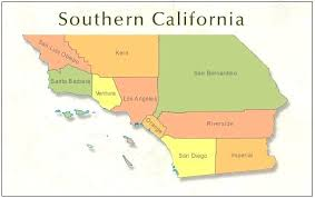 Home Prices State Map Southern Counties California County Lines