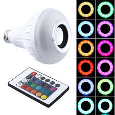 leegoal intelligent e27 led white rgb light bulb color