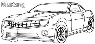 Car And Truck Coloring Pages For Cars Kids Printable Mustang